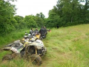 regroupement de la section quad avant le casse croute