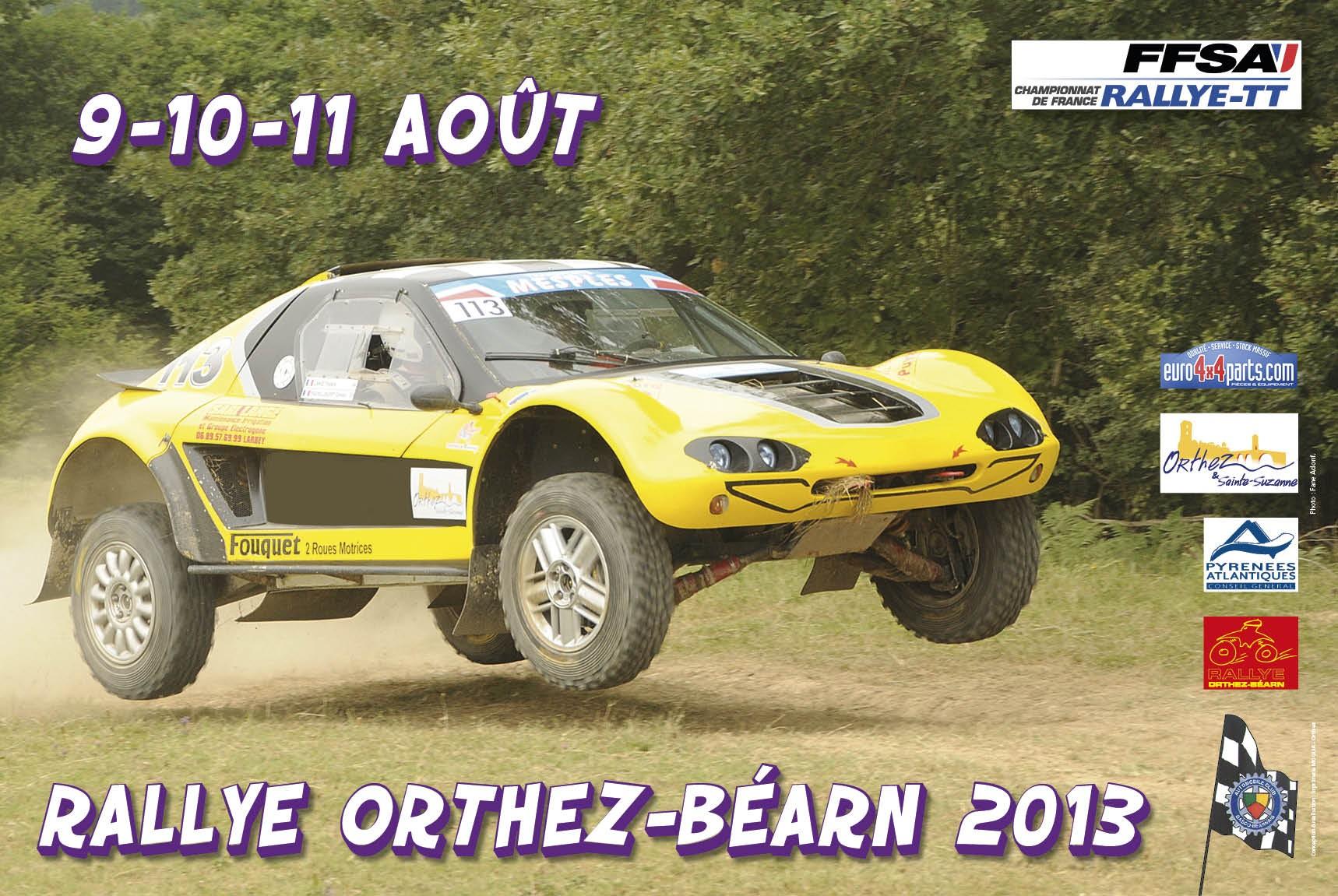 Affiche 2013 Rallye Orthez