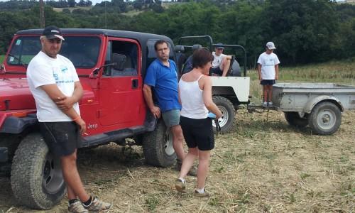 Gratien fera le triple 0 avec la jeep